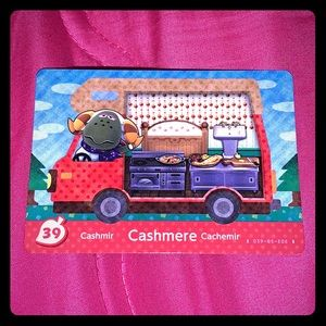 Animal crossing cashmere amiibo card